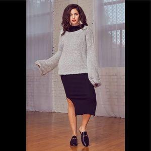 Lost + Wander Avant Garde gray knit sweater